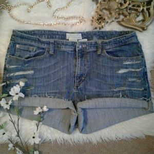 Maurices sz22 Distressed Cut Off Jean Shorts